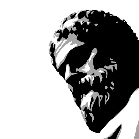truthfulness: ancient statue Illustration