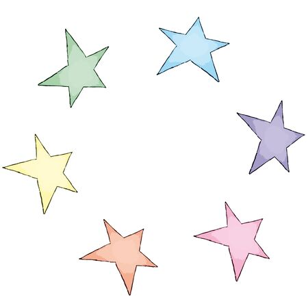 painted stars Stock Vector - 10737135