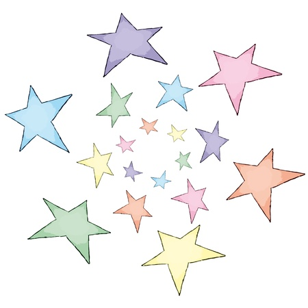 painted stars Stock Vector - 10737040