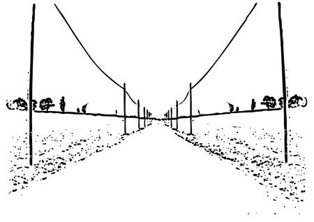 road ahead: road ahead Illustration