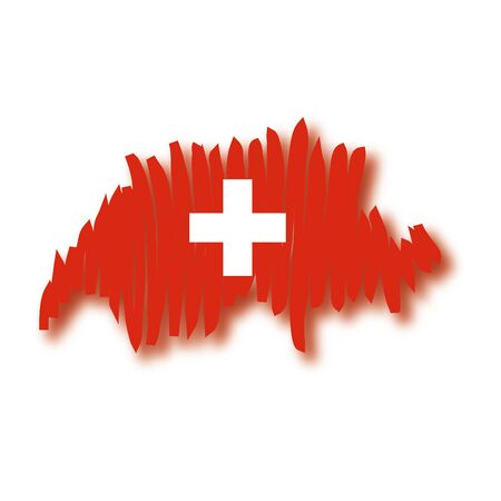 switzerland flag: map flag Switzerland