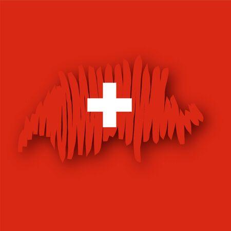 map flag Switzerland Vector