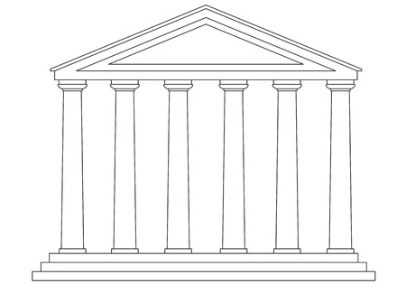 greek temple: temple