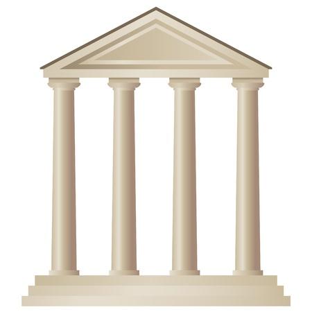 templo griego: Templo Vectores