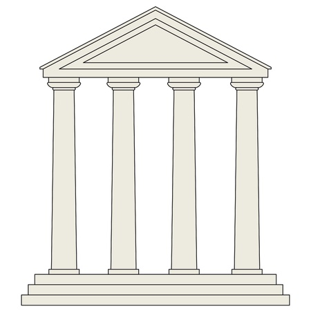 Tempel Vector Illustratie