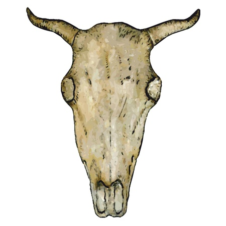 old west: ox skull