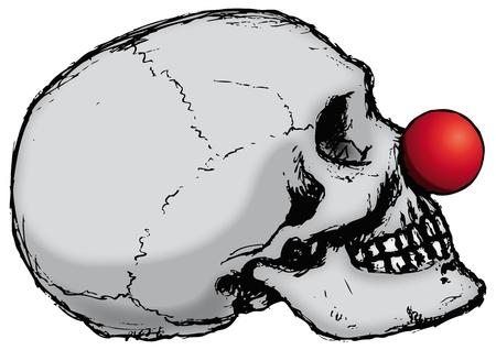 nariz roja: Payaso del cr�neo