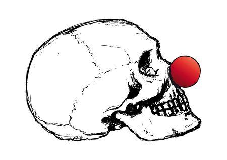 Clown skull Stock Vector - 10736796
