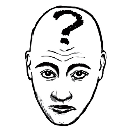 questioning: face Befragung Illustration