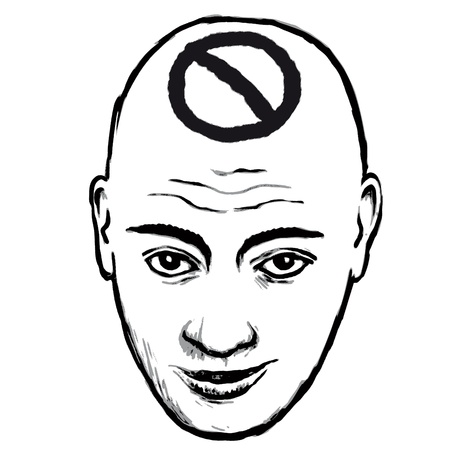 bald head: face privacy