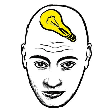 bald head: face idea