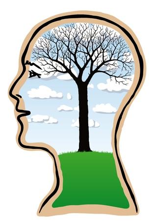 arboles secos: Naturaleza de los pensamientos Vectores