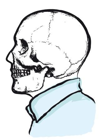 apprehension: skeleton dress