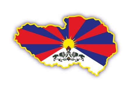 tibet: tibet Illustration