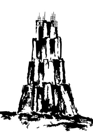 바벨의 탑 스톡 콘텐츠 - 10736757