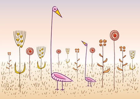 whimsical: strange birds