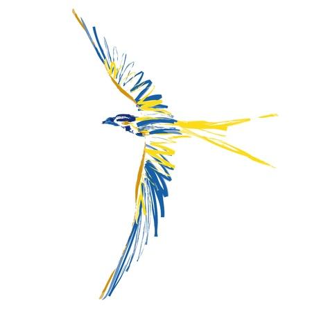 uccello in volo Vettoriali