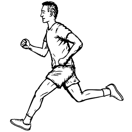 physical exercise: running man Illustration