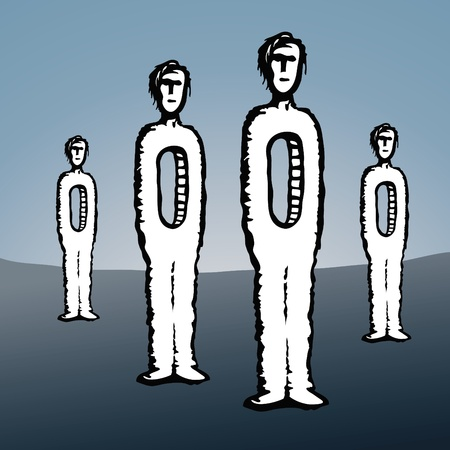 emptiness: men empty Illustration