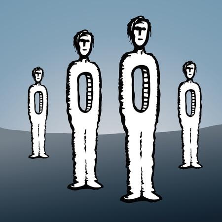 deficiency: men empty Illustration