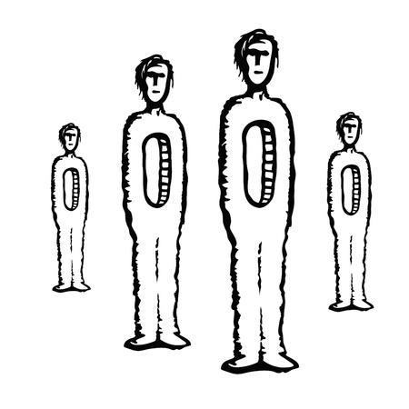 orifice: men empty Illustration