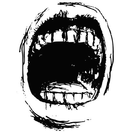 gritar Ilustración de vector