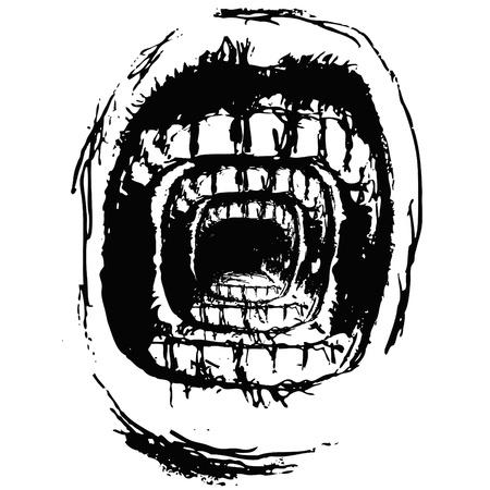 irritation: Scream Illustration