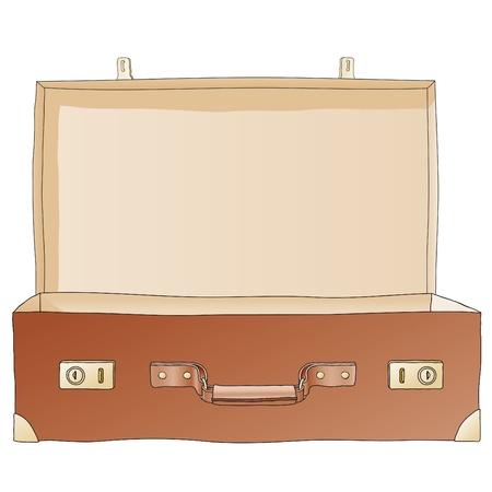 maleta abierta Ilustración de vector