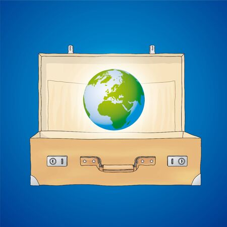 The World in a suitcase Vector