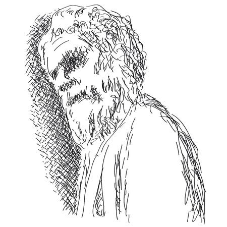 hombre con barba: anciano