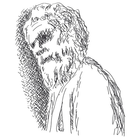 bearded man: old man