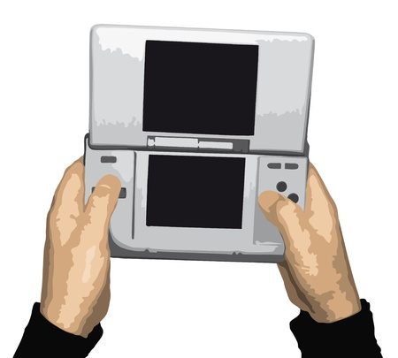 portable player: Video game Illustration