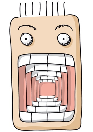 boca abierta: la boca abierta