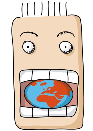 mouth open: eat the  world Illustration