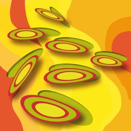 psychedelia: Discs Stock Photo