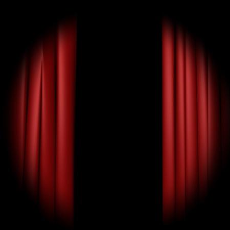 cortinas rojas: Cortina Foto de archivo