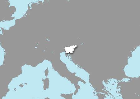 bosnian: map flag sloveniia Stock Photo