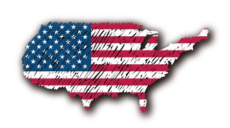map flag United States photo