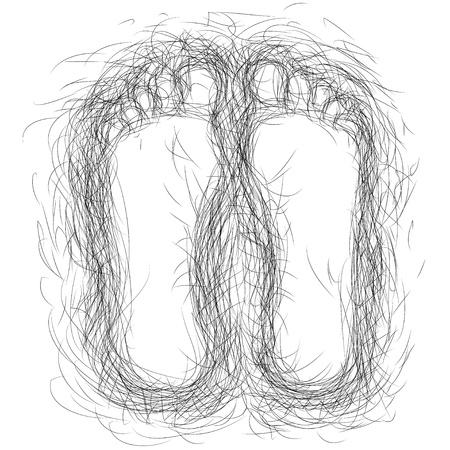 foot marks: footprints