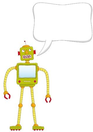 talking robots Stock Vector - 10736961