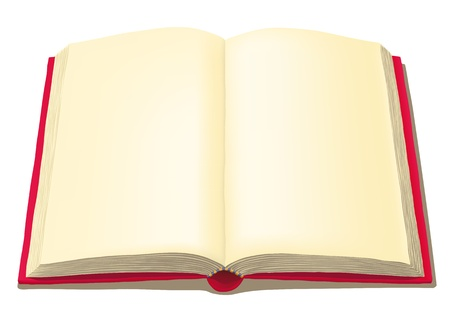 yellow pages: open book Illustration