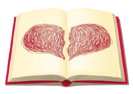 history books: open book Illustration