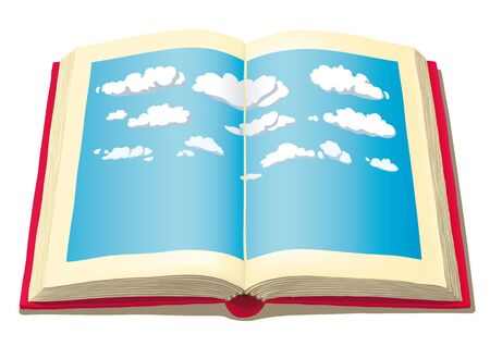 narrative: open book with sky