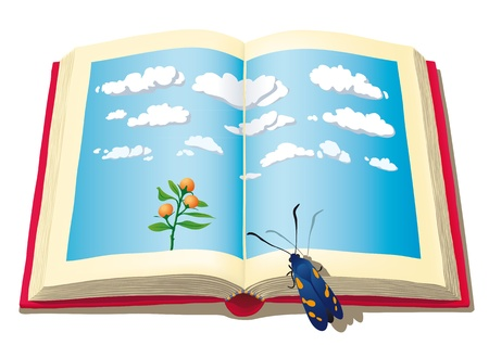 literatura: libro abierto