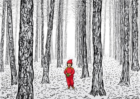 multiple stains: Little Red Riding Hood
