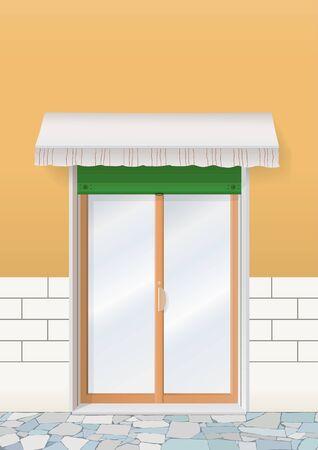 retailers: door of shop Illustration