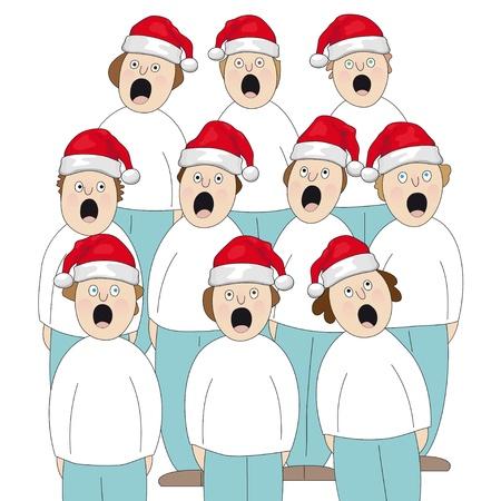 coro: Coro de la Navidad Vectores