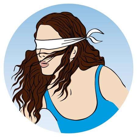 ojos vendados: la diosa de la fortuna Vectores