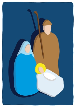 cradle: Christmas crib Illustration