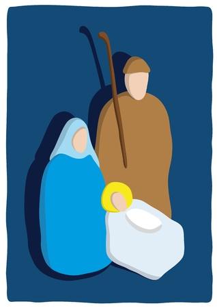 Christmas crib Illustration